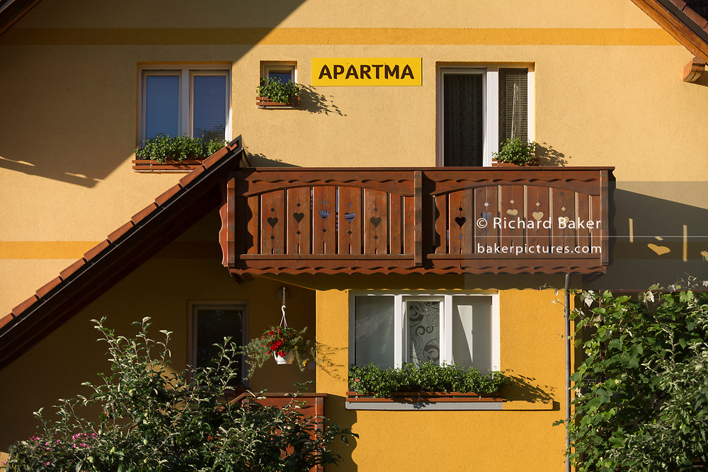 A holiday apartment in a rural Slovenian village, on 19th June 2018, in Bohinjska Bela, Bled, Slovenia.