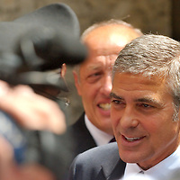 MILAN, ITALY - JULY 16:  George Clooney at Milan's law courts after testifying against three individuals accused of fraudulently using his name to promote a fashion label at Palazzo di Giustizia on July 16, 2010 in Milan, Italy. George Clooney testified as a civil plaintiff during the trial against the individuals running fashion label GC Exclusive by George Clooney.   (Photo by Marco Secchi/Getty Images)