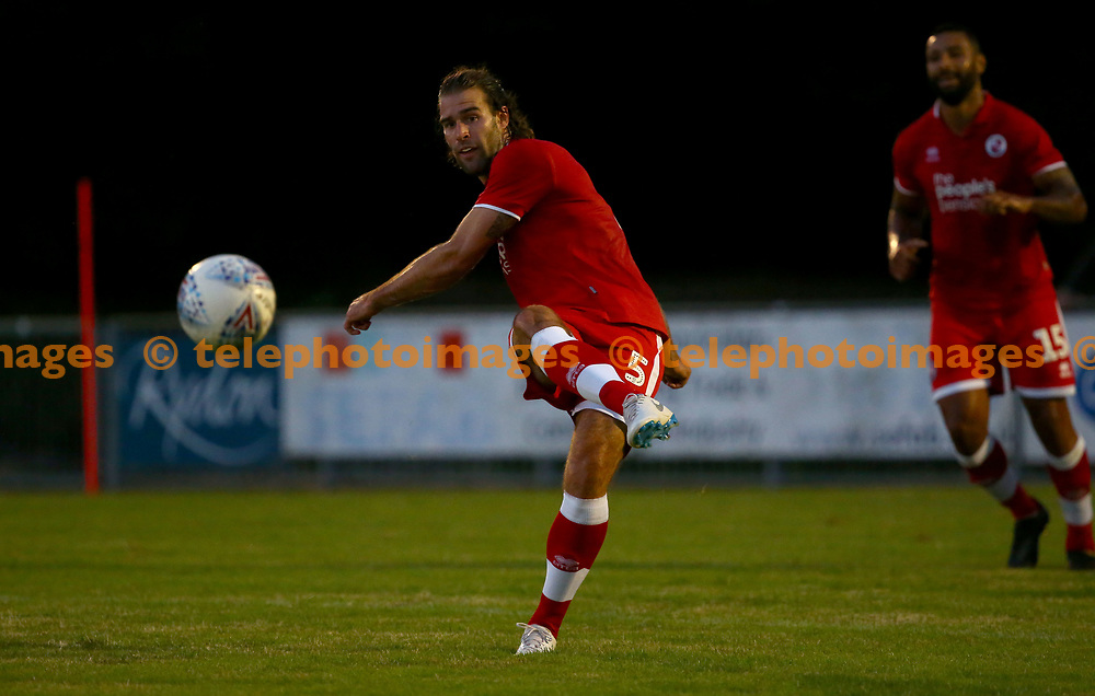 Crawley's Joe McNerney  during the pre season friendly between Crawley Town and Ipswich Town at East Court, East Grinstead, UK. 17 July 2018.