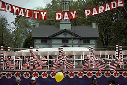 Reviewing stand for Loyalty Day Parade, Lancaster, PA.