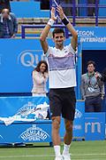 Novak Djokovic during the Aegon International Eastbourne at Devonshire Park, Eastbourne, United Kingdom on 29 June 2017. Photo by Jonathan Dunville.
