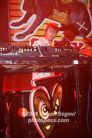 Basement Jaxx performing at Webster Hall on October 11, 2006. ..Co-founder Felix Buxton with glasses and beard.<br />