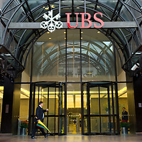 London May 5th 2009(FILE PICTURE) UBS AG reported a first-quarter net loss of 1.98 billion Swiss francs (£1.18 billion) Tuesday, confirming a warning given last month, and said it remains cautious about its outlook as loan losses are expected to mount amid the economic downturn.
