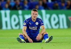 Jamie Vardy of Leicester City  - Mandatory by-line: Matt McNulty/JMP - 27/09/2016 - FOOTBALL - King Power Stadium - Leicester, England - Leicester City v FC Porto - UEFA Champions League