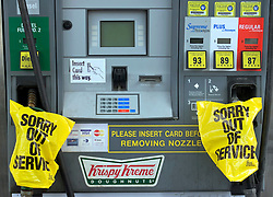 28th August, 2005. Hurricane Katrina, New Orleans, Louisiana. Petrol in short supply in the area.