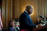 Jun 16, 2010 - Washington, District of Columbia, U.S., - .Representative John Lewis speaks during a plaque inveiling ceremony in recognition of the contributions of enslaved Aftican Americans to the construction of the United States Capitol...Also in attendence where Senator Blanche Lincoln, Rep. John Boehner, Senator Mitch McConnell, Senator Harry Reid, and Speaker of the House, Nancy Pelosi.(Credit Image: © Pete Marovich/)
