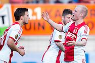 WAALWIJK, RKC Waalwijk - Ajax, voetbal Eredivisie, seizoen 2013-2014, 02-04-2014, Mandemakers Stadion, Ajax speler Davy Klaassen (R) heeft de 0-2 gescoord.