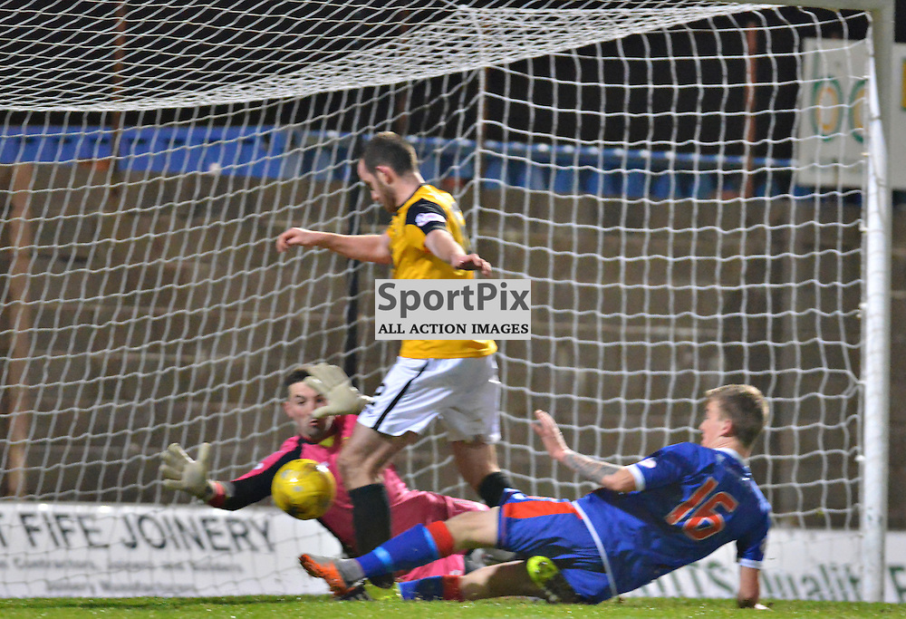 Top of the league confirmed as Elgin number 16 Kyle MacLeod scores to make it East Fife 0 City 2......(c) BILLY WHITE | SportPix.org.uk