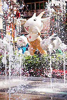 These cartoon goats were the symbol of the Asia Games held in Guangzhou 2010.