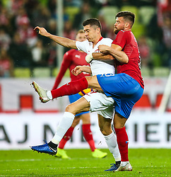 November 15, 2018 - Gdansk, Poland - Robert Lewandowski of Poland vies Ondrej Celustka of Czech Republic during the international friendly soccer match between Poland and Czech Republic at Energa Stadium in Gdansk, Poland on 15 November 2018. (Credit Image: © Foto Olimpik/NurPhoto via ZUMA Press)