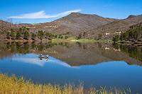 Fishing at Lake Maloya, Sugaarite Canyon State Park, New Mexico.