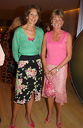 Left to right, MRS CATHERINE SOAMES and MRS SIMON SLATER they were friends of the late Diana, Princess of Wales at the annual Laurent Perrier Pink Party held at The Sanderson Hotel, Berners Street, London on 27th April 2005.<br /><br />NON EXCLUSIVE - WORLD RIGHTS
