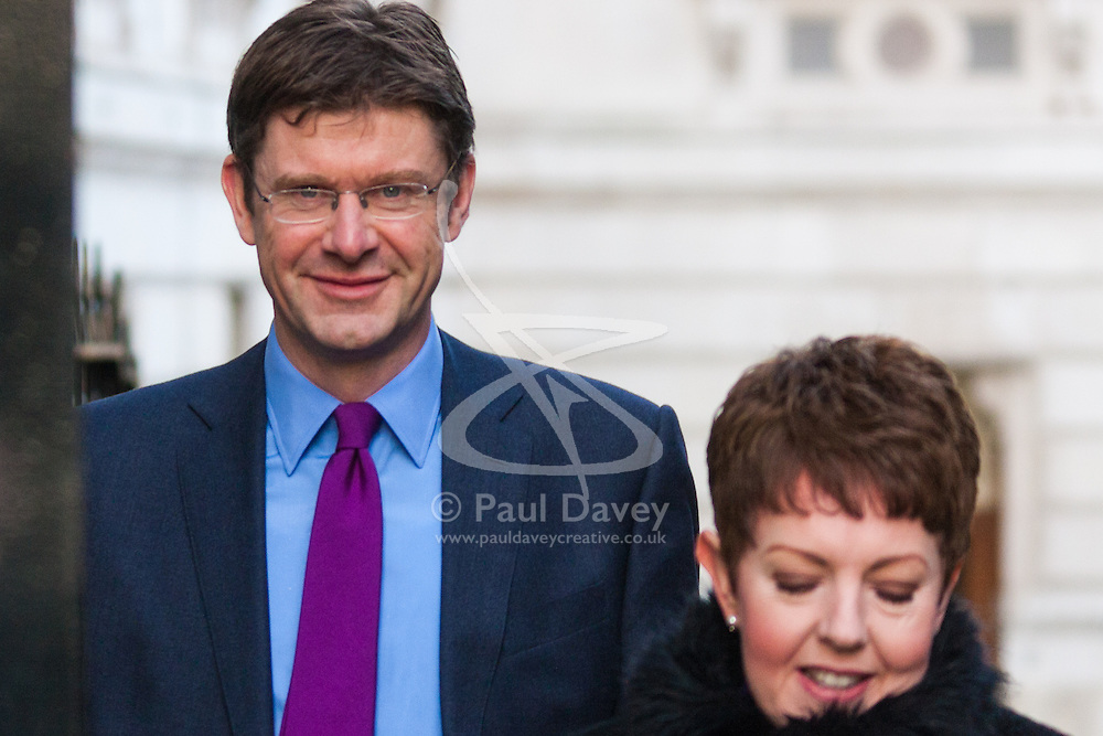 London, February 24th 2015. Ministers arrive at the weekly cabinet meeting at 10 Downing Street. PICTURED: Danny Alexander MP, Chief Secretary to the Treasury and Baroness Stowell, Leader of the House of Lords and Lord Privy Seal.