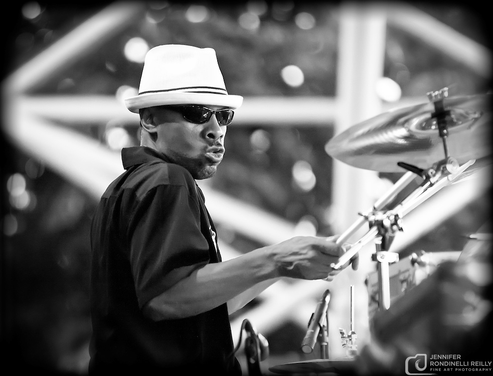 Reggie Bordeaux on drums with Paul Cebar Tomorrow Sound performing live at Summerfest 2011. Photo © 2011 Jennifer Rondinelli Reilly. All rights reserved. No use without permission.  Contact me for any reuse or licensing inquiries.