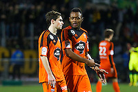 Deception Jordan AYEW / Vincent LEGOFF  - 20.12.2014 - Lorient / Nantes - 19eme journee de Ligue 1 -<br /> Photo : Vincent Michel / Icon Sport