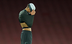 LONDON, ENGLAND - Friday, March 4, 2016: Liverpool's captain Trent Alexander-Arnold looks dejected as his side lose to Arsenal during the FA Youth Cup 6th Round match at the Emirates Stadium. (Pic by Paul Marriott/Propaganda)