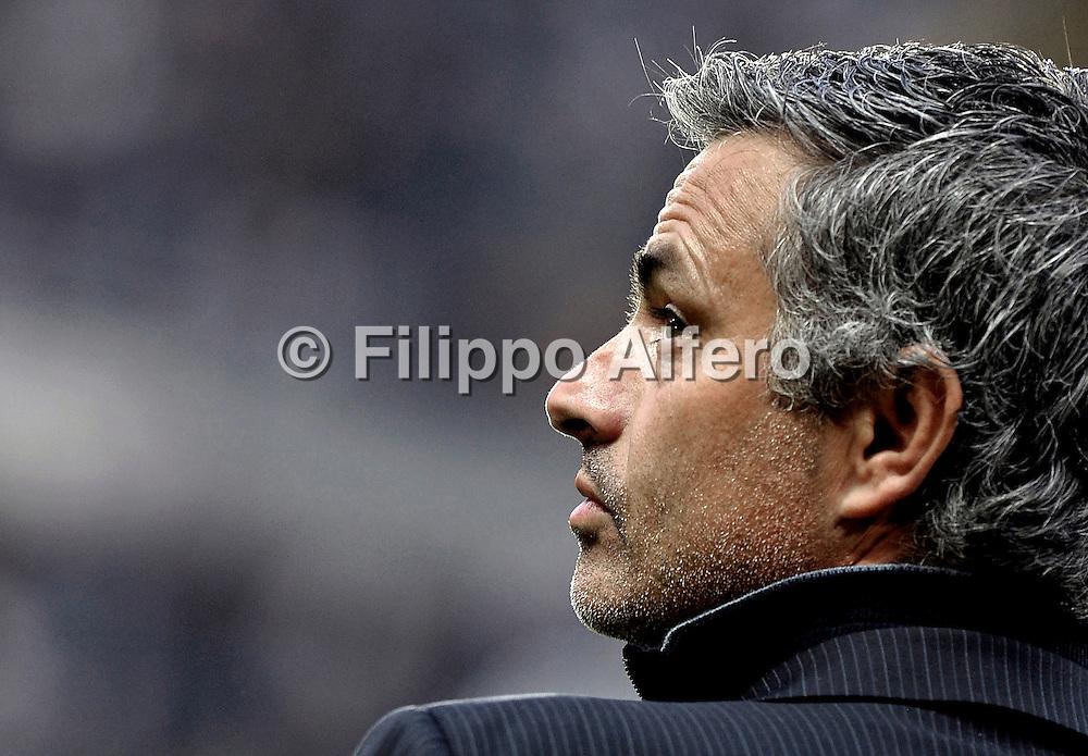 &copy; Filippo Alfero<br /> Torino, 18/04/2009<br /> sport , calcio<br /> Juventus vs Inter - Serie A 2008/2009<br /> Nella foto: Jos&eacute; Mourinho<br /> <br /> &copy; Filippo Alfero<br /> Turin, Italy, 18/04/2009<br /> Italian soccer<br /> Juventus vs Inter - Serie A 2008/2009<br /> In the photo: Jos&eacute; Mourinho