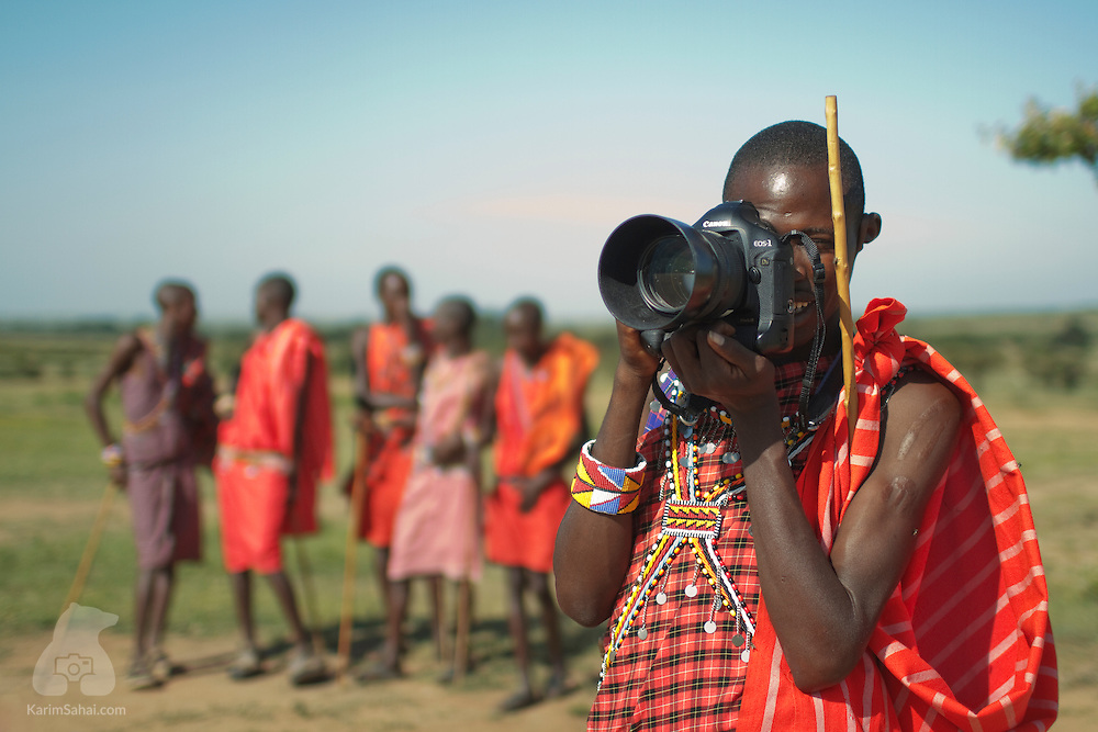 Maasai photographer, Kenya