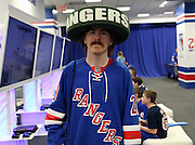 May 13, 2015 - New York, NY. Jack Dolan explores Rangerstown prior to entering game 7 against the Washington Capitals, at Madison Square Garden. Photograph by Anthony Kane/NYCity Photo Wire