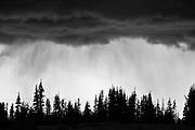 Storms clouds roll over Logan Pass, Glacier National Park, Montana
