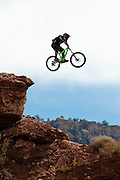 Alex Prochazka airs out a drop at the 2010 Red Bull Rampage contest