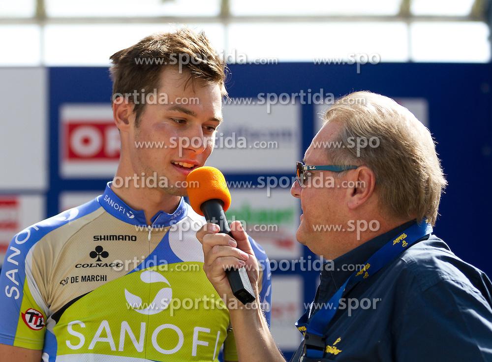 01.07.2012, Innsbruck, AUT, 64. Oesterreich Rundfahrt, 1. Etappe, EZF Innsbruck, im Bild Georg Preidler (AUT) und Harry Maye during the 64rd Tour of Austria, Stage 1, Individual time trial in Innsbruck, Austria on 2012/07/01