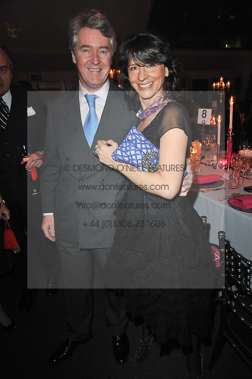 MICHAEL & the HON.GIANNI ALEN-BUCKLEY she is the sister of Rocco Forte at the KIDS 40th Birthday Gala Dinner held in the Boiler House at Battersea Power Station, London on 10th March 2011.