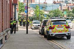 South Yorkshire Police Officers guard the perimeter of 1 Dunn St Daisy Spring Works after an armed police raid on Thursday evening June 1 2017 which resulted n the arrest of one man. An officer from the North East Counter Terrorism Unit said the raids were not linked to the recent terror attack in Manchester and officers were were acting upon recently received intelligence.<br />