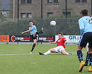 Jesse Curran scores Dundee's third with a curler from the edge of the penalty area - Tayport v Dundee XI - pre-season friendly at the GA Arena <br /> <br />  - &copy; David Young - www.davidyoungphoto.co.uk - email: davidyoungphoto@gmail.com