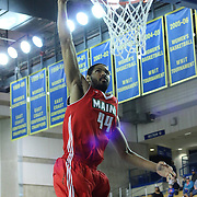 Maine Red Claws Center Zeke Marshall (44) dunks the ball in the second half of a NBA D-league regular season basketball game between the Delaware 87ers (76ers) and the Maine Red Claws (Boston Celtics) Friday, March. 21, 2014 at The Bob Carpenter Sports Convocation Center in Newark, DEL