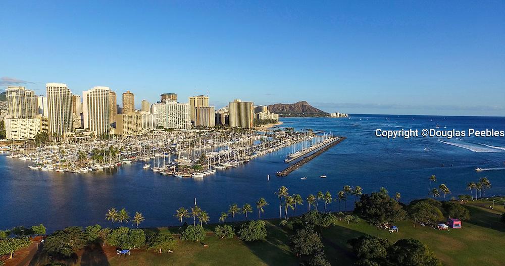 Ala Moana Park, Yacht Harbor, Waikiki, Honolulu, Oahu, Hawaii