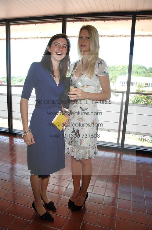 Left to right, VIOLET ELLIOT and LADY ALEXANDRA GORDON-LENNOX at the 4th day of the Glorious Goodwood racing festival 2007 held at Goodwood Racecourse, West Sussex on 3rd August 2007.<br />