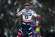 KUUSAMO, FINLAND - 2017-11-26: Kathrine Rolsted Harsem, Norge under damernas l&auml;ngdkid&aring;kning 10km jaktstart under FIS World Cup Ruka Nordic p&aring; Ruka Stadium den 26 November, 2017 i Kuusamo, Finland.<br /> Foto: Nils Petter Nilsson/Ombrello<br /> ***BETALBILD***