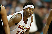 Ben Emelogu (15) of South Grand Prairie looks on against Cibolo Steele during the UIL Conference 5A semifinals at the Frank Erwin Center in Austin on Friday, March 8, 2013. (Cooper Neill/The Dallas Morning News)