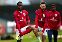 Jonathan Leko of England and Ben Brereton of England - Mandatory by-line: Robbie Stephenson/JMP - 05/09/2017 - FOOTBALL - One Call Stadium - Mansfield, United Kingdom - England U19 v Germany U19 - International Friendly