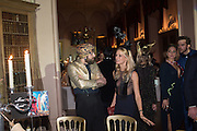 RALPH HUGHES; KATHERINE HOLNGREN, Ball at to celebrateBlanche Howard's 21st and  George Howard's 30th  birthday. Dress code: Black Tie with a touch of Surrealism. Castle Howard. Yorkshire. 14 November 2015