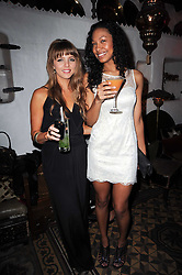 Left to right, actress Ophelia Lovibond and actress Shanika Warren-Markland at a party to celebrate the launch of Laura Mercier's perfume Ambre Pssion Elixir held at Momo's, 25-27 Heddon Street, London on 27th May 2010.