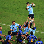 Ben Mowen wins a line out during the Super 14 match between the Waratahs and the Western Force at the Sydney Football Stadium, Sydney, Australia on April 18, 2009.  Photo Tim Clayton