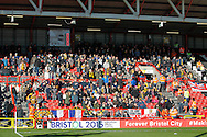 Hull City fans during the Sky Bet Championship match at Ashton Gate, Bristol<br /> Picture by Mike Griffiths/Focus Images Ltd +44 7766 223933<br /> 21/11/2015