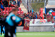 OSTERSUND, SWEDEN - APRIL 21: Fans of Ostersunds FK ahead of the Allsvenskan match between Ostersunds FK and Orebro SK at Jamtkraft Arena on April 21, 2018 in Ostersund, Sweden. Photo by Nils Petter Nilsson/Ombrello ***BETALBILD***
