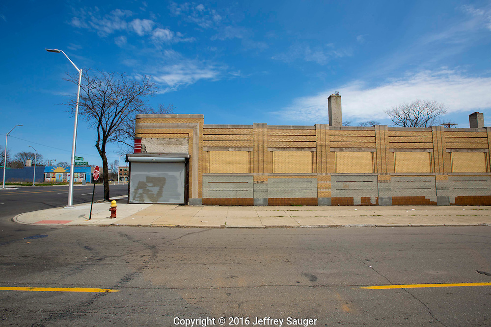A former Kresge Department Store in the Jefferson-Chalmers Historic Business District and neighborhood in Detroit, Michigan, Wednesday, April 20, 2016. This is future home of Jefferson East Inc. <br /> <br /> On September 7, 2016, The National Trust for Historic Preservation gave the Jefferson-Chalmers neighborhood in Detroit&rsquo;s lower east side the distinction of a National Treasure. This is the first in the state of Michigan and the first project under the National Trust&rsquo;s ReUrbanism initiative. (Photo by Jeffrey Sauger )