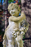A cherub statue at Atlanta's Swan House