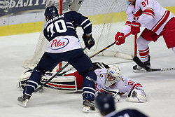 08.01.2015, Dom Sportova, Zagreb, CRO, KHL League, KHL Medvescak vs HC Spartak Moscow, 50. Runde, im Bild Ivannikov Evgeny // during the Kontinental Hockey League, 50th Round match between KHL Medvescak and HC Spartak Moscow at the Dom Sportova in Zagreb, Croatia on 2015/01/08. EXPA Pictures © 2016, PhotoCredit: EXPA/ Pixsell/ Grgur Zucko<br /> <br /> *****ATTENTION - for AUT, SLO, SUI, SWE, ITA, FRA only*****