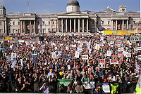 Demonstration through Central london from Hyde Park to Trafalgar Square to end occupation of Iraq & palestine Sept 27 2003.