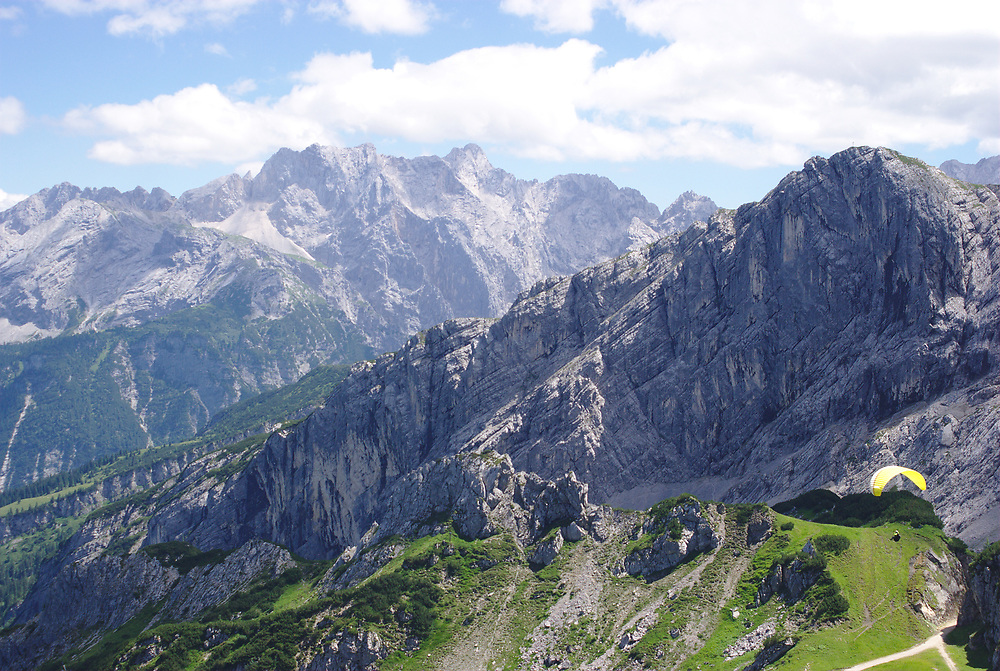 Summer in the German Alps. Taken from a trail overlooking the German equivalent of Half Dome.