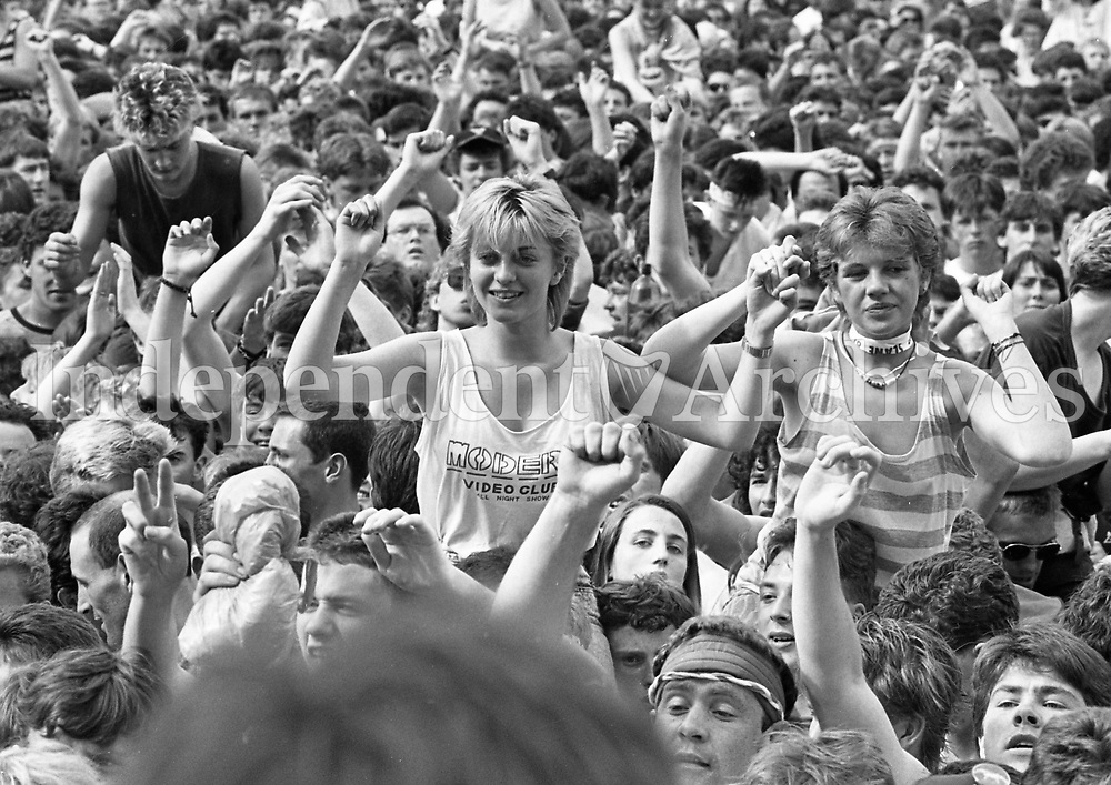 David Bowie at Slane Castle July 1987.