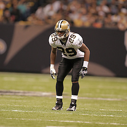 2008 October, 12: New Orleans Saints FS Josh Bullocks (29) in action during a week six regular season game between the Oakland Raiders and the New Orleans Saints at the Louisiana Superdome in New Orleans, LA.