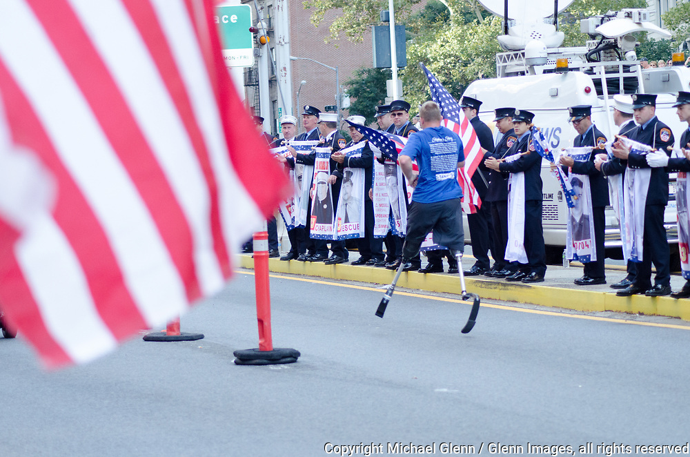 24 Sep 2017 Manhattan, New York United States of America // Handicap heroes lead the waves of runners at the Stephen Siller Tunnel to Towers run at the World Trade Center site  Michael Glenn  /
