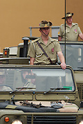 Australian Army 41 Transport group marching on 2007 ANZAC day parade in Hobart Tasmania.
