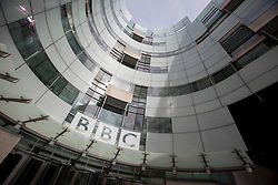 © licensed to London News Pictures. London, UK 15/04/2013. BBC Broadcasting House pictured in London on Monday, 15 April 2013. BBC says an edition of Panorama filmed secretly during a study trip to North Korea is due to be broadcast later as planned despite claims students may have been put in danger. Photo credit: Tolga Akmen/LNP